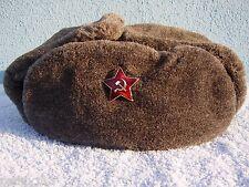 Wintermütze Soldat m. russischem Stern Mütze Kappe Shapska Chapka