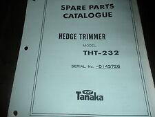 tanaka hedge trimmer THT-232 illustrated parts list,prior #,tanaka manuala