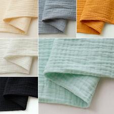 Double Cotton Linen DIY Sewing Handmade Warm Bamboo Slub Fabric Fashion Soft