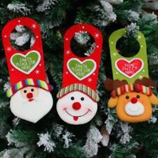 Merry Christmas Santa Snowman Hanging Xmas Door Window Decorations Sign LA