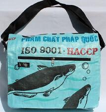 Recycled Fish Feed Travel Bag Fuschia 49cm Size Handmade in Cambodia Fair Trade
