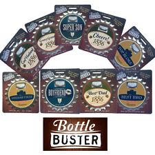Bottle Buster 3 in 1 Gadget. Fridge Magnet, Bottle Opener and Coaster