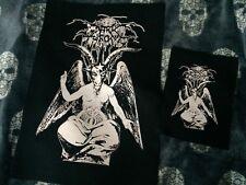 Darkthrone Baphomet True Norwegian Black Metal Canvas Back Patch Shadow Of Horns