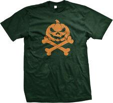 Pumpkin Crossbones Jack-O-Lantern Happy Halloween Spooky Paranormal T-shirt