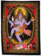 SHIVA NATARAJA Wandbehang Stoffbild mit Pailletten Hinduismus Natraj Schiva Siva