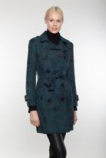 Linda Richards Luxury Floral Brocade Coat- Teal