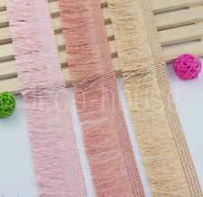 Dusty Coloured Brush Fringe Tassel Trim Ribbon Craft Upholstery Retro Tape Lace