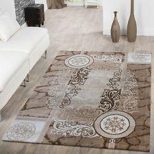 Teppich Modern Preiswert Ornamente Kreis Muster Meliert Wohnzimmerteppich Beige