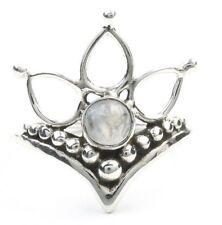 Landour Moonstone Ring, Sterling Silver Moonstone Ring, Flower Moonstone Ring