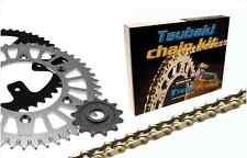 "Kit Chaine Tsubaki MX Omega ""ORS"" Quad Yamaha YFA1 125 Breeze 1989-1999 89-99"