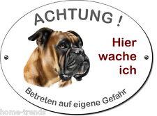 Boxer-Hund-Alu-Schild-20 x 15 cm-3 mm dick od. Folie-Warnschild-Hundeschild