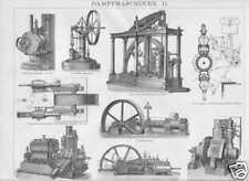 Dampfmaschine Cox Compoundmaschine HOLZSTICHE um 1900 Brotherhood Corliss