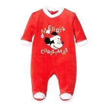 DISNEY pyjama velours bébé MICKEY Noel 3 6 12 18 ou 23 mois rouge Christmas NEUF