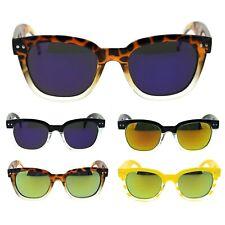 Clear Lens Eyeglasses Rectangular Short Horn Rim 2-Tone PURPLE