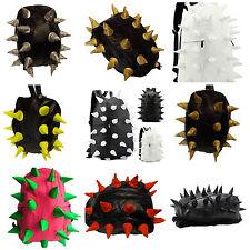 Black soft faux leather unisex spiked goth Emo punk hedgehog rucksack backpack