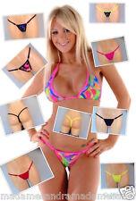 Micro Tanga conjunto Bikini Traje De Baño Bikini Tanga extrema audacia Tiny Revelador