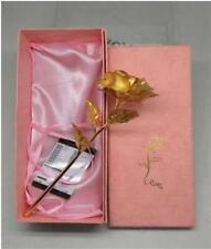 Lightahead Handcrafted Golden Gold Forever Rose Gift Valentine Wedding Birthday