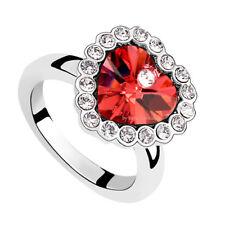 Anello Donna Cristallo Swarovski elements cuore rosso N98