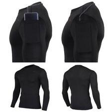 Take Five Mens Smart Pocket Skin Tight Compression Layer Running Shirt NT 072 CA
