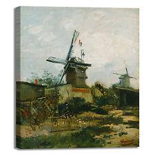 Van Gogh mulino a vento design quadro stampa tela dipinto telaio arredo casa