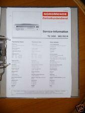 Service Manual for NordMende TU 1650 Tuner, ORIGINAL