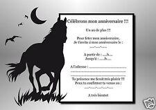 5 ou 12 cartes invitation anniversaire REF 1074