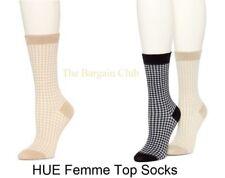 HUE Womens Solid Femme Top Socks OR femme pucker peach socks One Size