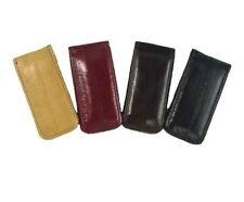 Genuine Eel Skin Leather Men's Strong Magnetic Money Clip Money Holder