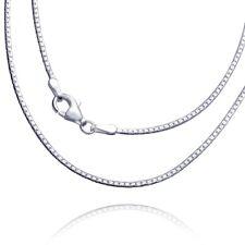 MATERIA Ankerkette Silber 925 oval gedrückt 1,7mm Halskette 40-70 cm mit Box