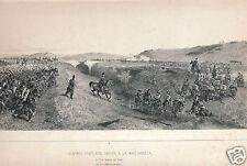Denis Auguste Raffet Siege de Rome 1850 chalk lithograph Arrive a La Maglianella