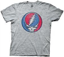 Grateful Dead Steal Your Face Logo Licensed Cotton Blend Adult T Shirt