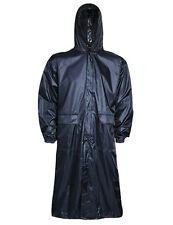 LADIES NAVY BLUE TRENCHCOAT 100% WATERPROOF WINDPROOF long hiking mac jacket