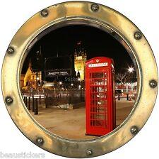 Adesivi oblò inganna l'occhio Londrs cabina telefonica ref: 8820