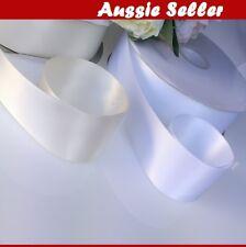 Double Side Satin Ribbon 50mm x23M, white ivory
