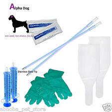 Kit De Lujo AI Breeding Flexible Canina Perro Inseminación Artificial Punta De Acero