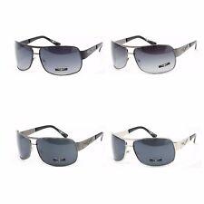 Flying Skull Aviator Sunglasses for Men - Casual Classic Shades - Metal Frame
