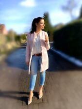 Blazer Rosa Gr. 34 36 38 40 42 44  lange Damen Jacke Mantel S M L XL neu 094