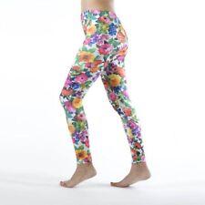 Bold Color Floral Print Leggings