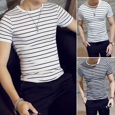 T-shirt Fashion J1 Blouse Summer Sleeve Fit 2018 M-2xl Striped Tops Slim Short
