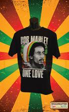 Bob marley one love jamaïque reggae rasta double face t-shirt