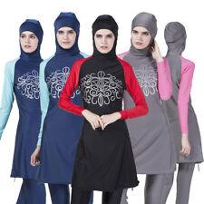 Modest Women Swimwear Muslim Full Cover Swimsuit Arab Burkini Isalm Swmming Suit