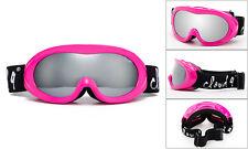 Pink Skiing Snowboarding Goggles Teen Women Anti Fog Dual Shatterproof Lens