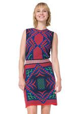Desigual Sleeveless Woven Blue Red Marias Dress XS-XXL UK 8-18 RRP?129