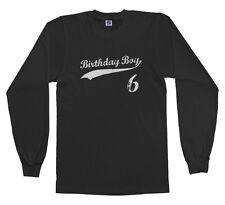 Threadrock Kids Birthday Boy 6 year old Youth Long Sleeve T-shirt happy 6th six