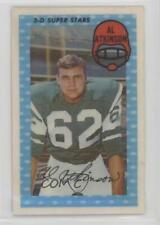 1971 Kellogg's 3-D #53 Al Atkinson New York Jets Football Card