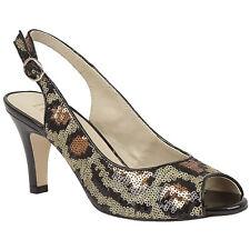 Femmes lotus Palladia imprimé léopard orné de sequins bout ouvert bride arrière chaussures 50731