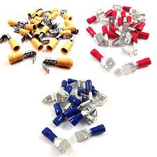 100 mezclados pack 6.3mm Piggy Back conectores de terminal tipo pala eléctrica Crimp
