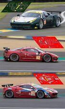 Calcas Ferrari 458 Italia Le Mans 2016 1:32 1:43 1:24 1:18 1:64 1:87 slot decals