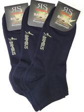 3 algunos Hombre RS Bambú Zapatillas calcetines cortos Suave Borde Azul Oscuro
