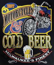 T-Shirt #597 MOTORCYCLES COLD BEER Biker Hot Rod Dragster Pin Up V8 TATTOO